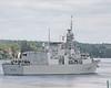 HMCS TORONTO Entering River Channel (Roger Litwiller -Author/Artist) Tags: hmcstoronto cpf canadianpatrolfrigate stlawrenceriver stlawrenceseaway rogerlitwillercollection iroquoislock rcn royalcanadiannavy