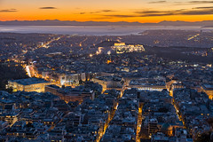 Athens nightscape (Milos Golubovic) Tags: athens nightscape greece new year 2018 acropolis parthenon lycabettus hill hdr mount d7100 sigma 1770mm nikon panorama scenery newyear cityscape winter pano ngc