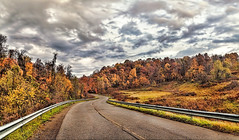 IMG_5074-75Ptzl1scTBbLGER2 (ultravivid imaging) Tags: ultravividimaging ultra vivid imaging ultravivid colorful canon canon5dmk2 clouds scenic stormclouds sky landscape autumn panoramic autumncolors fall fields trees countryscene rural rainyday road pennsylvania pa vista