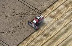 Norfolk Harvester (John D Fielding) Tags: masseyferguson combine harvester aerial norfolk centora above eastanglia farming farm harvest nikon d810