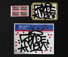 Snoeman (Alex Ellison) Tags: snoe snoeman sticker tag usps prioritymail label 228 postallabel newyork usa nyc collection urban graffiti graff boobs