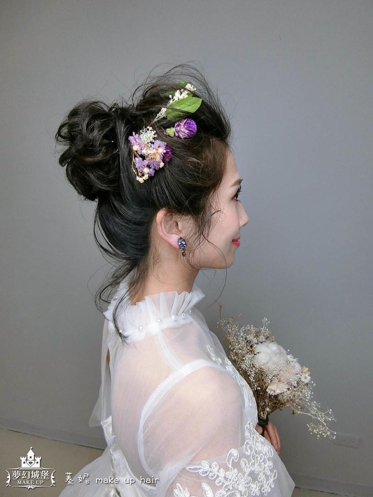 【新秘蓁妮】新娘造型創作 / 黑髮-甜甜鮮花造型