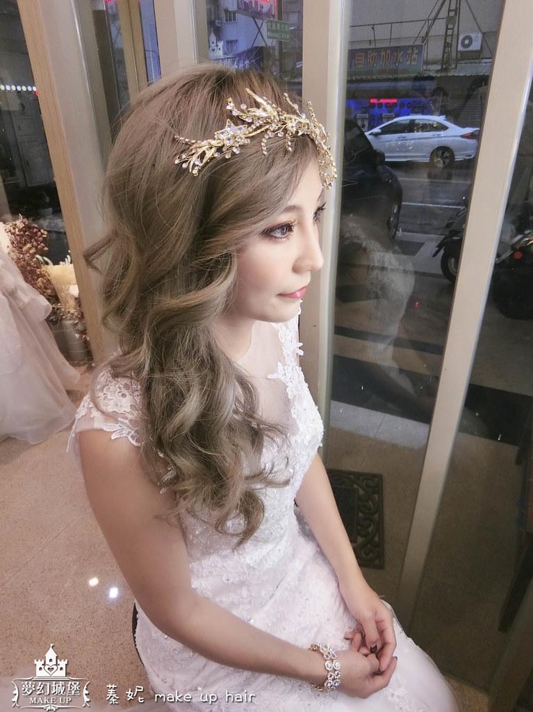 【新秘蓁妮】新娘造型創作 / 側邊捲髮造型