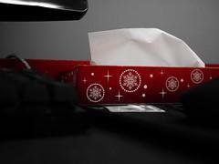 Tricolor Christmas Tissue Box (Polish Fuze) Tags: red white black monochrome tricolor tissue box christmas holiday