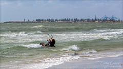Hangin' On! (Cathy Cates (aka CrafteeCC)) Tags: 117in2017 kiteboarding largsbeach southaustralia sports