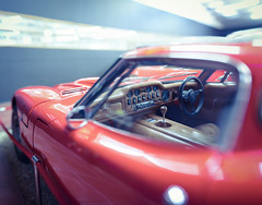 Interior (Edd Noble) Tags: bokeh bokehpanorama bokehrama bokehpano brenizermethod microsoftice sonya7 sonyfe85mmf18 red car haynesmotormuseum carmuseum interior