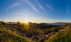 Panoramic view (grgppmchl) Tags: lenstagger landscape goldenhour panorama salamis salamina trees sky clouds field rocks mountains flare