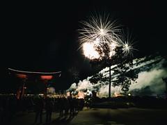 Celebrate (ancientlives) Tags: epcot worldshowcase japan pavilion waltdisneyworld wdw fireworks celebration night lights holiday orlando florida usa winter december 2017 sunday newyearseve newyear torii light walking travel trips ngc themepark eve