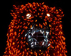 Bear In Mind (oybay©) Tags: bear electricbear lights light electric electriclights color colour colors colorful bright vivid phoenix arizona phoenixzoo zoolights zoo display unique unusual macro
