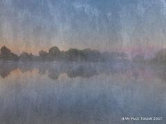 Matin de brumes (JEAN PAUL TALIMI) Tags: sudouest talimi landes lumieres lignes lac brume biscarrosse bleue arbre campagne marche peche aquitaine arbres