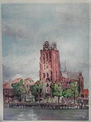 dordrecht 2015 (koabrahamse) Tags: watercolour wasserfarben watercolor aquarel aquarell aquarelle aquarella akvarell akwarele dordrecht
