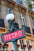 Subway sign in Paris
