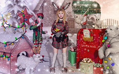 Out In The Cold Again (Gabriella Marshdevil ~ Trying to catch up!) Tags: sl secondlife cute doll kawaii monso arcade christmas enfersombre catwa bento blackbantam jian dami holiday