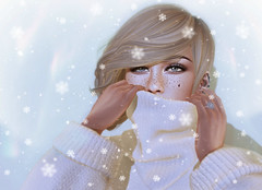 Special Little Snowflake :P (EnaRoane Logan) Tags: avi avatar roleplay virtual secondlife 2ndlife slmesh maitreya mesh catwa bento elikatira pumec snow winter