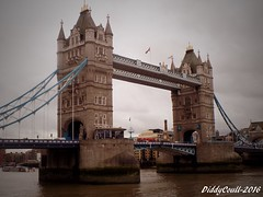 Is it Just A Bridge Though? (DiddyCoull-2016) Tags: bridge tower london england uk unitedkingdom greatbritain south euro europe gb river thames water history heritage diddycoull2016 photo photography photograph photographer edited notcropped grey brown stone brick blue old wellknown popular landmark tour tourist tourism pride proud september 2017 dayout trip 21st century flickr photostream upload follow fave comment explore nikon coolpix coolpixer l340 ameatur young selftaught teenager