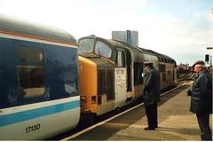 37706 Manchester Victoria (Paul Emma) Tags: manchester manchestervictoria railway railroad dieseltrain train 37706 class37