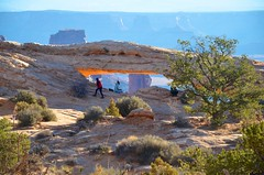 Our First Glimpse Of Mesa Arch (Joe Shlabotnik) Tags: nationalpark mesaarch utah 2017 arch canyonlands november2017 canyonlandsnationalpark afsdxvrzoomnikkor18105mmf3556ged