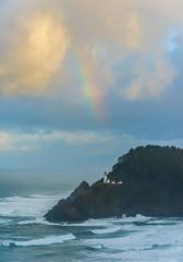 Heceta Christmas (Ranbo (Randy Baumhover)) Tags: oregon oregoncoast pacificocean lighthouse heceta hwy101 sunrise