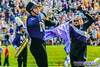 Stay Out of the Way (Daniel M. Reck) Tags: b1gcats dmrphoto date1022 evanston illinois numb numbhighlight northwestern northwesternathletics northwesternuniversity northwesternuniversitywildcatmarchingband unitedstates year2017 band college color drummajor education ensemble flag horn instrument marchingband music musicinstrument musician purple purpura school trumpet university