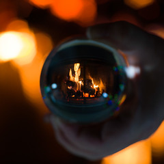Bon temps des Fêtes / Happy Holidays (Mad Blike) Tags: hasselblad hasselbladx1d mirrorless mirrorlesscamera dslm lensball proxi proxy light fire glass flame burn globe abstract earth night gas hot ball world christmas fireplace holidays lumière feu verre flamme brûler abstrait terre nuit gaz chaud ballon monde noël cheminée vacances hasselbladxcd120mmf35macro