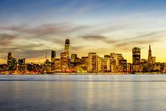 A San Francisco Sunset (Tony Shi Photos) Tags: sf sanfrancisco san francisco bayarea architecture urban downtownsf ca california treasureisland best salesforce salesforcetower transamerica glow skyscrapers