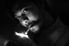 SWEET BALI (N A Y E E M) Tags: pleasure preure friend djbali smoke fire light availablelight night mezetto 20thfloor bar restaurant hotel radissonblu chittagong bangladesh sooc