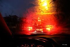 Pluie sur pare-brise (philippe_lauga) Tags: pluie rain night nuit lumière