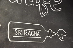 Sriracha (earthdog) Tags: 2018 nikon d5600 nikond5600 18300mmf3563 losgatos art blackboard chalk chalkboard word bottle sriracha restaurant mainstreetburgers