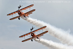 3415 Wingwalkers (photozone72) Tags: eastbourne airshows aircraft airshow aviation canon canon7dmk2 canon100400f4556lii 7dmk2 wingwalkers breitlingwingwalkers breitling stearman biplane