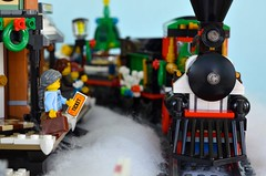 Going Someplace Warm! (linda_lou2) Tags: 365the2018edition 3652018 day5365 05jan18 5365 odc inventions 365toyproject lego wintervillage wintervillagestation minifigure minifig toy