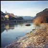 Ventimiglia - Agfa Click I + Fuji Reala 100 exp. 2006 (paolapaoletta) Tags: agfaclicki clicki fujireala100 reala100 scaduta expired 2006 selfdeveloped film fiume river ventimiglia liguria italy