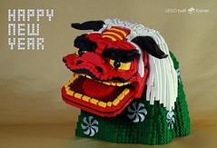 shishimai_01 (kaba_and_son) Tags: shishimai mask lion dance new year japan 獅子舞 レゴ liondance