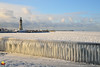 Sunny but not Warm (DTD_9758) (masinka) Tags: lake greatlakes frozen winter ice fence freezing cold lighthouse etbtsy wonderland magical eriebasin erie buffalo marina ny newyork city cityscape urban photography sunny light