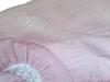 Pink Seersucker Baby Blanket with Ruffle (initial_impressions) Tags: embroidered personalized seersuckerruffledbabyblanketinpinkandwhite