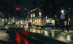 Pennsylvania (KennardP) Tags: pennsylvania doylestownpa buckscounty cityatnight citylights nightlights handheldnightphotography building cars road snow snowstorm sigma50mmf14dghsmart sigmaartlens canon canon5dmarkiv 5dmarkiv winter