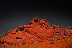 Valley of Fire and Stars 5859 C (jim.choate59) Tags: valleyoffire desert nightsky stars jchoate nevada d610 night dark on1pics lasvegas