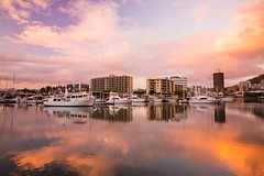 And I Fell in Love with Townsville-4440 (islandfella) Tags: sunrise daybreak morning tomlins creek water reflections townsville queensland australia clouds marina boats sky skyline