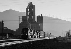 Monolith Monochrome (Jake Branson) Tags: train railroad bnsf c449w locomotive ge monolith ca california tehachapi pass summit doublestack stack intermodal