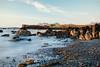 Let's put the past behind us (desomnis) Tags: iceland nature coast longexposure le rocks island canon5dmarkiv canon5d canon 5d desomnis landscape landscapes landscapephotography sunset sunsetlight