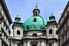 Die Barocke Peterskirche (-MikeBakker-) Tags: vienna austria wien österreich street streets streetphotography square platz graben historic unesco heritage perspective angle composition house houses building buildings view travel traveling traveler travelling traveller urban urbanexploration exploration exploring explore wanderlust nikon nikond3100 d3100 1855mm dslr camera lens colourful colours colour blue milky sky europa europe white light sunlight sunshine summer day afternoon peterskirche kirche church tower towers turm dome kuppel