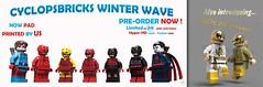 Cyclopsbricks 2017 Winter Wave- Pre-Order (CyclopsBricks) Tags: printed pad custom hyperhd hyper hd 3d cyclopsbricks lego batman minifigure comic comics convention wave day