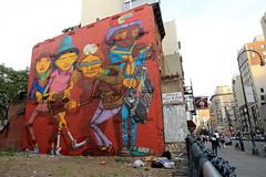 os gemeos (Luna Park) Tags: ny nyc newyork manhattan streetart mural production osgemeos twins hiphop lunapark downtown boombox