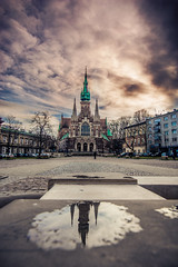 St. Joseph's Church (Vagelis Pikoulas) Tags: krakow poland travel photography reflection church canon 6d tokina city cityscape landscape perspective 1628mm november autumn 2017