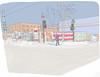 Halte Chaleur (3eCheval) Tags: montréal rosemont montreal dessinnumérique digitaldrawing urbansketching urbansketchingmontreal adobe draw homeless sans abri