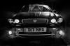 Jaguar X-type (deltic17) Tags: jag jaguar x xtype jaguarxtype car blackwhite monochrome nightphotography night dark 35mm canon canon5dmk3 front water spray nocturnal scene moody lights