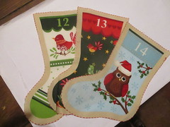 Times Past (vw4y) Tags: stockings advent bunting craftproject notime halffinished inexplore birds owl christmas fabric adventcalendar
