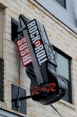 Rock N Roll Sushi (dangr.dave) Tags: architecture denton dentoncounty downtown historic texas tx neon neonsign rocknroll sushi rockandroll guitar