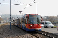 Stagecoach Supertram 117, Netherthorpe Road 10/04/15 (TC60054) Tags: stagecoach sheffield siemens duewag duwag siemensduewag supertram south yorkshire sysl tram tramway light rail railway metro lrv rapid transit