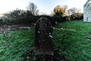 ANCIENT CHURCH AND GRAVEYARD AT TULLY [LAUGHANSTOWN LANE NEAR THE LUAS TRAM STOP]-134588