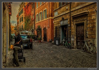 Roma_Trastevere_Via dei Vascellari_Italia